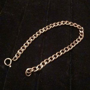 """Sterling Silver Cable Chain Bracelet 7.25"""" #57"""